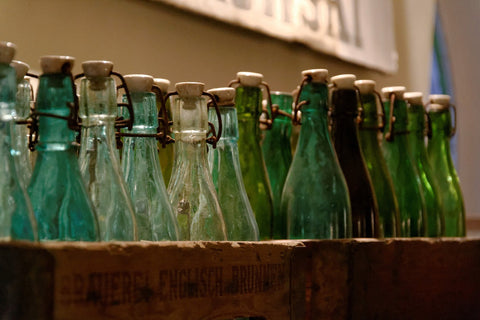 repurposed wine bottles
