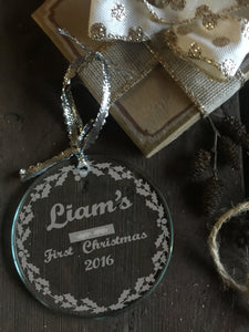 Lovely Personalized First Christmas Ornament