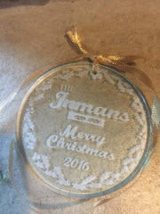 Lovely Personalized Glass Ornament