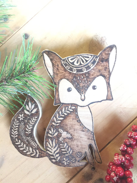 Woodland Creatures Fox for kid's room or nursery