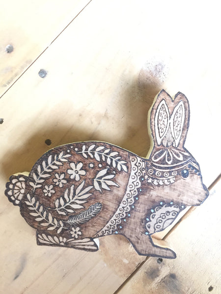 Woodland Creatures Bunny for kid's room or nursery