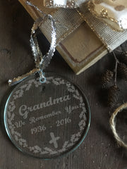 Lovely Personalized Memorial Christmas Ornament