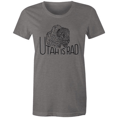New Women's Buffalo Tee - Black print