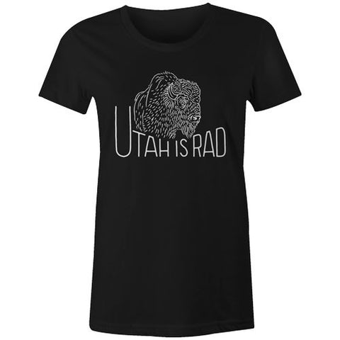 New Women's Buffalo Tee - White print