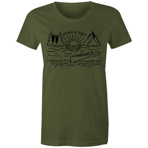 New Women's Lake Tee - Black print