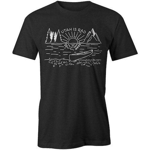 New Lake Tee - White print