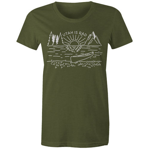 New Women's Lake Tee - White print