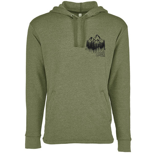 Mountain Forest Après Hooded Pullover