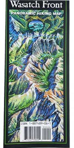 Wasatch Front Panoramic Hiking Map