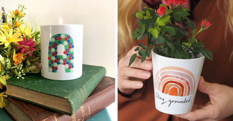 candles and plant pot gifts for students