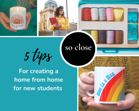 5 tips to help create a 'home from home' for new uni students