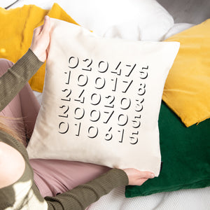Personalised Dates Cushion