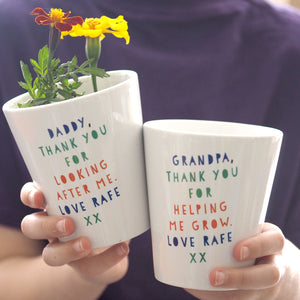 Personalised Plant Pot Gift For Dad