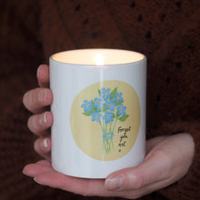 Load image into Gallery viewer, Forget me not Candle Personalised
