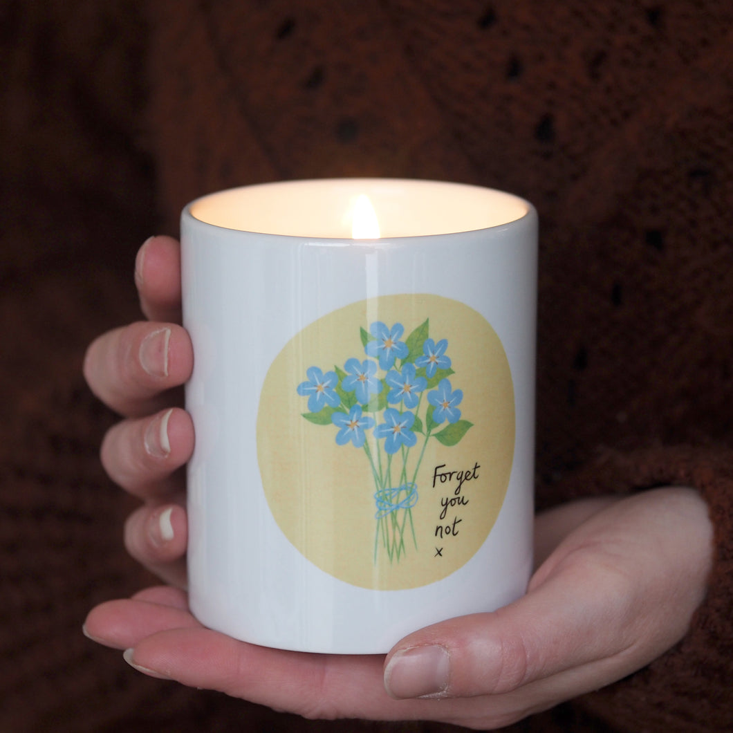 Forget me not Candle Personalised
