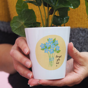 Forget me not Plant Pot Personalised