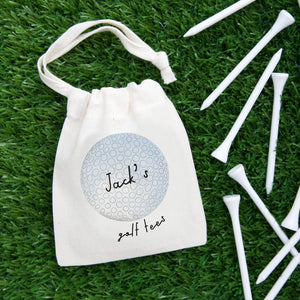Golf Ball Personalised Tee Bag