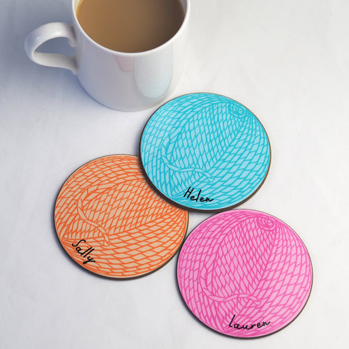 Personalised Coaster For Knitters