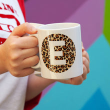 Load image into Gallery viewer, Leopard Print Alphabet Mug