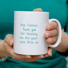 Load image into Gallery viewer, Butterfly Personalised Teacher Mug or Travel Mug Gift