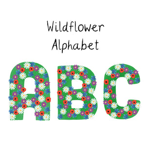 Wildflower Alphabet Ceramic Or Enamel Mug