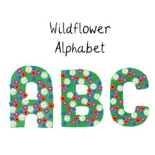 Load image into Gallery viewer, Wildflower alphabet ceramic candle
