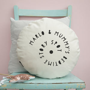 Bedtime story spot cushion - round or square