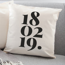 Load image into Gallery viewer, Personalised Date Cushion