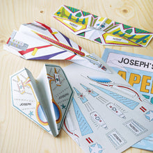 Load image into Gallery viewer, paper planes kit gift for daddy and child