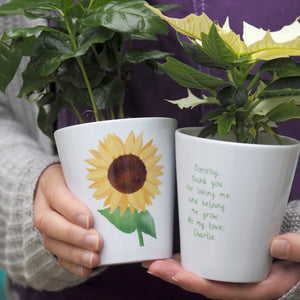 Sunflower Personalised Plant Pot