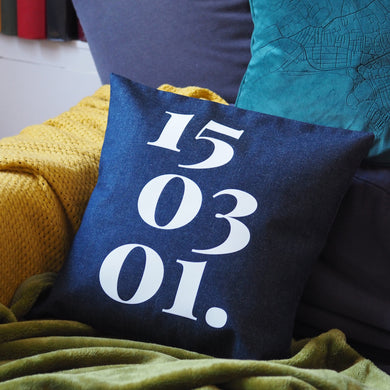 Personalised Date Cushion