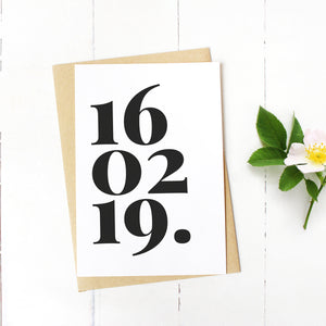 special date card for birthdays or anniversaries