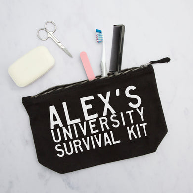 Personalised University Survival Kit Pouch