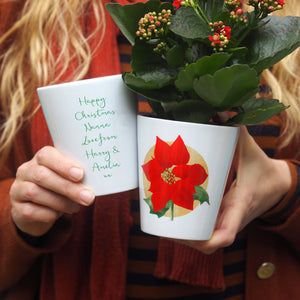 christmas flower pot gift