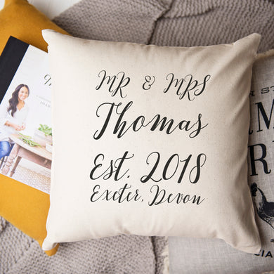 Anniversary Personalised Cushion