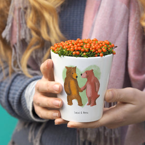 Bears personalised plant pot gift for couples