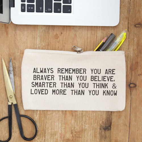 positive message pencil case