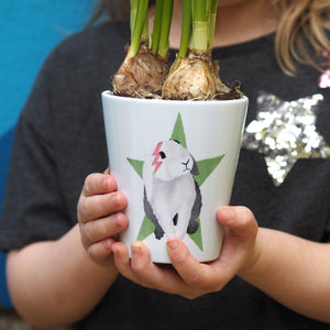 Bunny Plant Pot Personalised