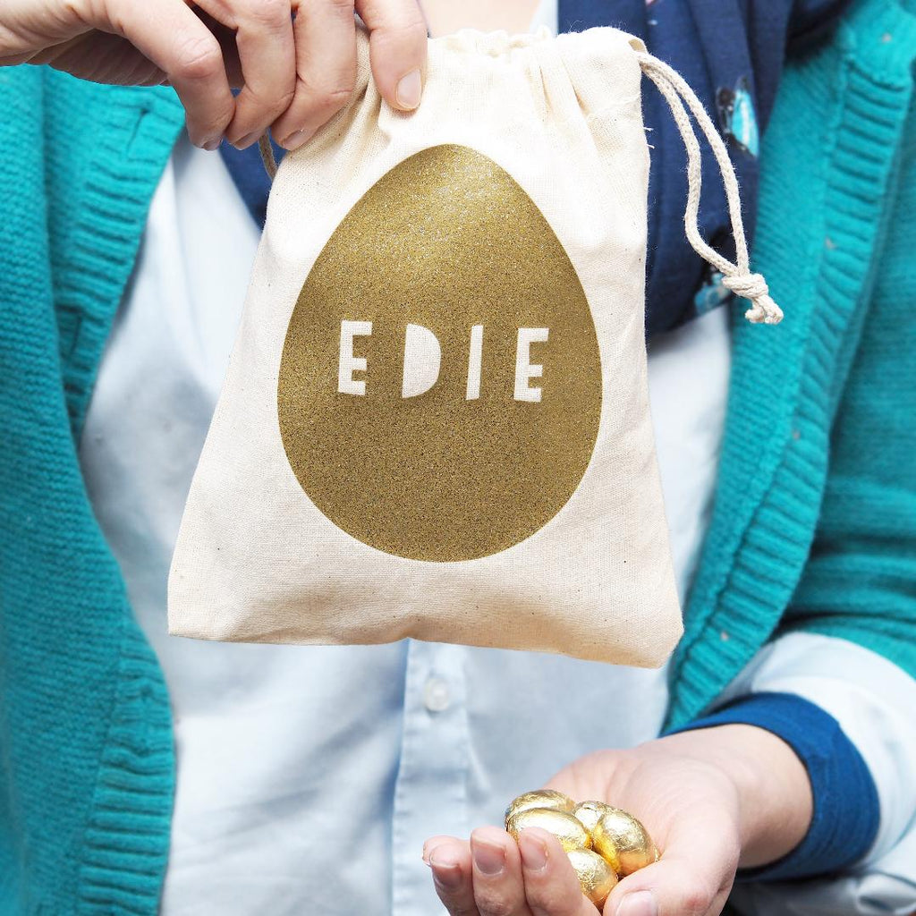 Golden Egg Bag With Chocolate Eggs