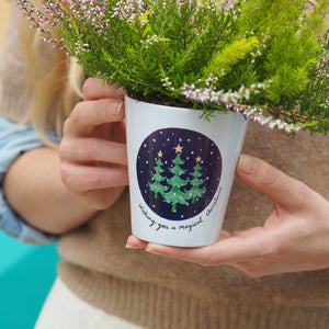 Christmas tree plant pot personalised