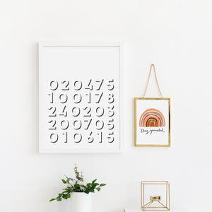 Personalised Dates Print
