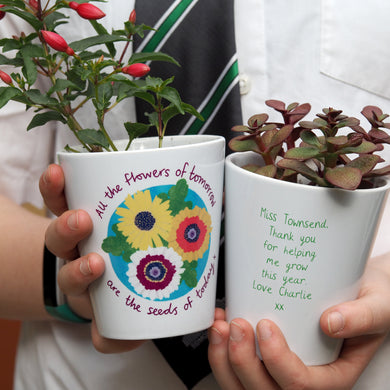 teacher plant pot gift