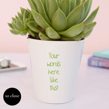Load image into Gallery viewer, Forget me not Plant Pot Personalised