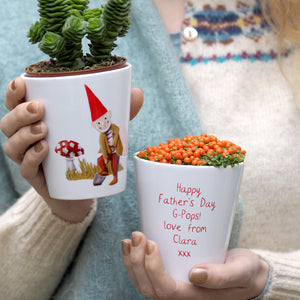 Gnome Personalised Plant Pot