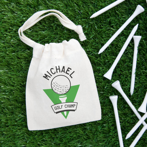 personalised golf tee bag