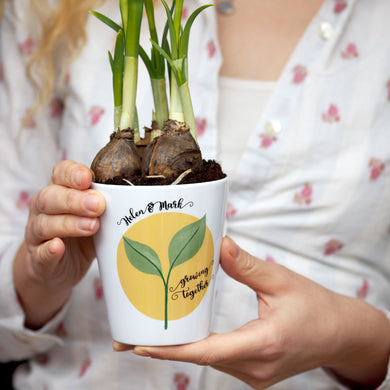 anniversary plant pot gift for couples