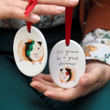 Load image into Gallery viewer, Guinea Pig Christmas Decoration