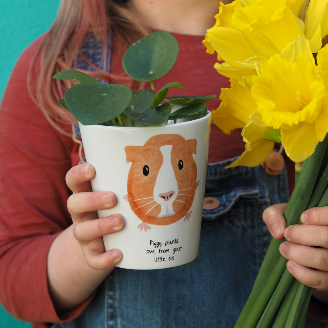 Guinea Pig personalised plant pot