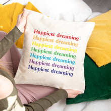 Load image into Gallery viewer, personalised rainbow cushion