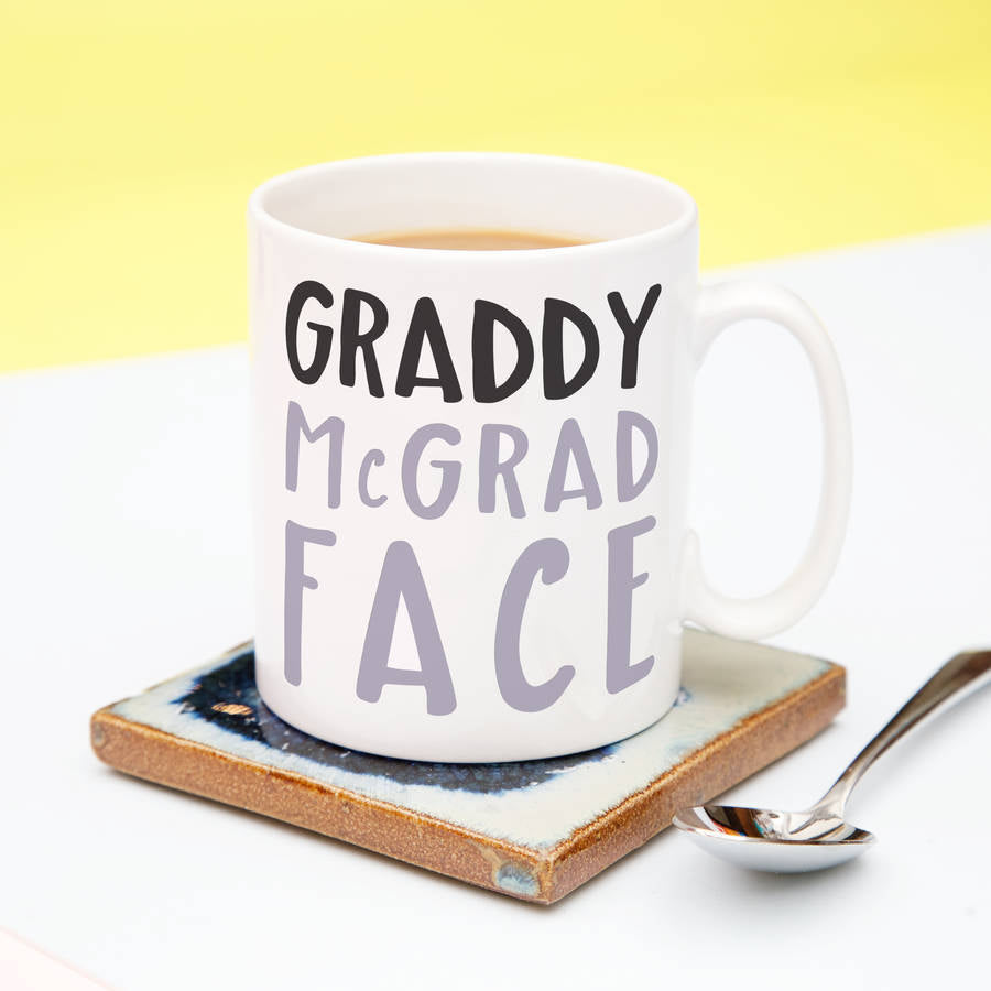 Graddy Mc Grad Face mug graduation gift